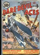 Dare-devil Aces May 1939-bi Plane Battle Cover By Frederick Blakeslee-air War...
