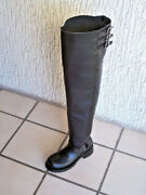 Thigh High 34 Inches Shafts Engineer Boots Heavy Leather Custom Made Any Size