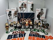 Chicago Bears 100th Year Anniversary Tin Bobbleheads 10 Set Sth Rally Towels Cup
