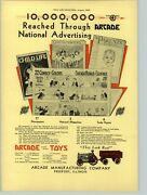 1930 Paper Ad Toy Arcade Cast Iron Farm Tractor Wagon Advertising Campaign