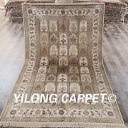 Yilong 5and039x8and039 Handmade Silk Area Rugs Four Seasons Hand Craft Garden Carpets L47b