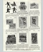 1957 Paper Ad Toy Play Soldiers Combat Military With Weapons Sets Action Figures