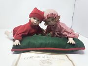 Heritage Signature Collection Porcelain Dolls Ethan And Emma's Christmas Sound