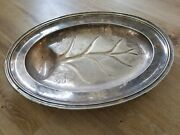 18 3/8 X 14 Reed And Barton 32 18 Vintage Silver Soldered Tray Leaf Design S1-2