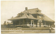 Rppc Ny Springville Brandrrr Railroad Station Depot With Early Locomotive Erie Co