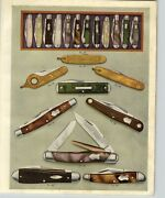 1918 Paper Ad 28 Pg Henry Sears And Son 1865 Pocket Knife Knives Color Plate