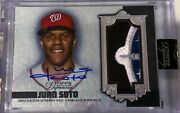 2019 Dynasty Juan Soto All Star Game Relic On Card Auto 3/5 Washington Nationals