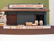 Tyco Ho Scale Model Train 2 Buildings Switch Curved Tracks Vintage Used