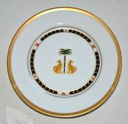 2 Christian Dior Casablanca Bread And Butter Plates Leopards Palm Trees Set Of 2