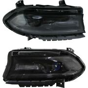 Headlight Lamp Left-and-right Ch2502270 Ch2503270 68214397ab 68214396ab