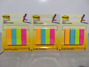 3-packs Post It Page Flag Markers Assorted Brights 200 Strips Per Pack