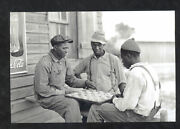 Real Photo Red Bank Tennessee Black Americana Checkers Game Postcard Copy
