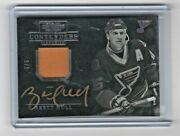 2013-14 Brett Hull Contenders Gold Auto + 1 Select Honored Insert /5 St Louis