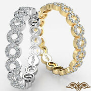 Bubble Style Round Diamond Eternity Gold Ring Womenand039s Wedding Band 0.50 Ct
