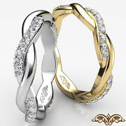 Twisted Infinity Round Diamond Eternity Womenand039s Wedding Band Gold Ring 0.40 Ct