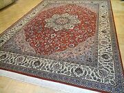 9x12 Chinese Rug Silk And Wool Sino Medallion Authentic 100 Wool Oriental Fine