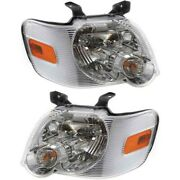 Fo2503220 Fo2502220 Headlight Lamp Left-and-right For Explorer Lh And Rh Ford