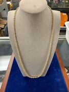 Vintage Pearl Neckless 18k White Gold Diamond Clasp 27andrdquo
