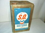 Rare Standard Oil Of California 5-gallon Tin - S.o. Compounded Paint Thinner