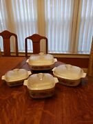 Vintage Corning Ware Spice Of Life Four Piece Casserole Set With Lids