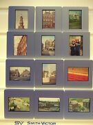35mm Slides 2 Cases 180 + Vienna Italy Holland Amsterdam Canals Tulips Holiday