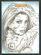 Witchblade Collector Cards Breygent/2014 Sketch Card By Randy Green Ultra-rare