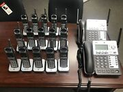 Atandt Synj Corded Sb67138 W/ 2 Cordless Sb67108 Handsets Dect Phone System 4 Line