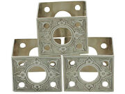 Antique Victorian Sterling Silver Napkin Rings Set Of Three - 1850-1899 78g
