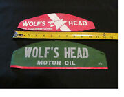 Pair Of Wolf's Head Motor Oil Grease Monkey Hats/ Caps 1940's-50's New Old Stock