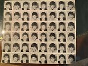 Beatles Sheet Of Uncut Stamps Full Sheet Coa Collectors Casesee Photo