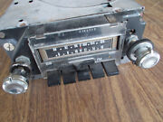 1970and039s Delco Am-fm Radio W/ 8 Track Gold Light Stereo Tape Deck Player Untested