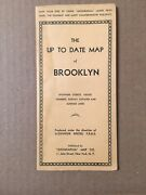 Vintage Fold Out Map Of Brooklyn Circa 1940's Geographia New Old Stock