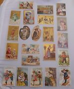 Victorian Trade Cards Lot Soaps Soapine Levines Marseilles Die Cuts And More 22pcs