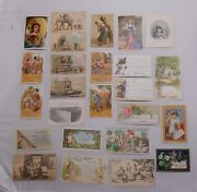 Victorian Trade Cards Lot 25pc Assorted Hoyts Ayers Seedsmen Jumbo Corsets Drugs