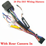 Car Auto Stereo 20pin Iso Wiring Harness Connector Adapter With Camera Wiring
