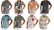 100 Cotton Hawaiian Print Men's T-shirt, Size M, L Or Xl, Holiday/ Stag Night