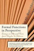 Formal Functions In Perspective Essays On Musical Form From Hay