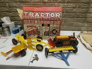 Rare Marx Toys Tractor Sales And Services Complete Set In The Box 9 Piece Set