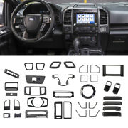 35pcs Interior Decoration Panel Trim Cover Kit Accessories For Ford F150 2015-20