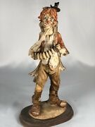 Duncan Royale Art Collections Clown Statue Accordion Performer Music Vintage