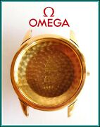 Rare Vintage 18k Solid Gold Omega Geneve 2982 Wristwatch Case Circa 1960and039s Swiss