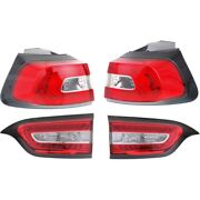 Set Of 4 Tail Lights Lamps Left-and-right Inside Lh And Rh For Jeep Cherokee 14-18