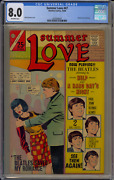Charlton Comics Summer Love 47 1966 Cgc 8.0 Beatles Romance Cover Ofw Pages