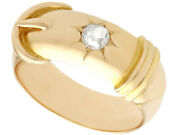 Antique Diamond And 18k Yellow Gold Gent's Ring