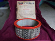 Nos Rambler Amc American Motors Air Filter Element W/red Seals And Round Holes Vtg