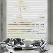 Rockrose Privacy Window Film Non-adhesive Strip Frosted Anti Uv Stained Glass