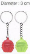 Tupperware Cupcake Keychains Set Of 2 Collectible Pink Green New