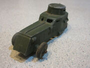 Antique Vintage Tootsietoy U.s. Army Armored Car Tank 3 7/8 Die Cast Toy