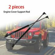 Hood Lift Supports Struts Hydraulic Engine Cover For 2018+ Jeep Wrangler Jl Jlu