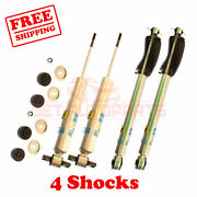 Kit 4 Bilstein B8 5100 3 Front And 3 Rear Lift Shocks For Chevy C1500 94-`99